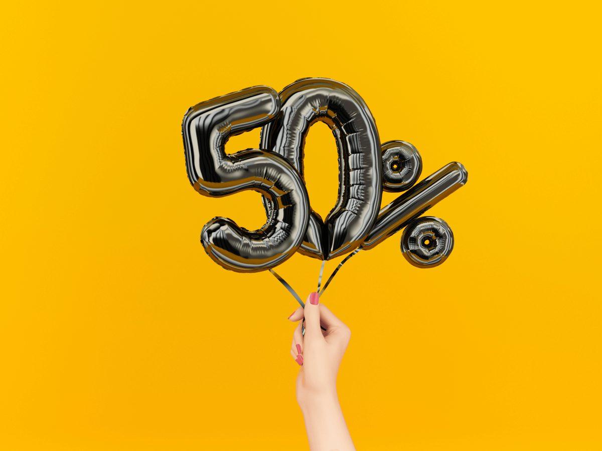 50% balloons